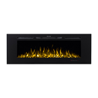 "Decorative Electric Fireplace Electric Decor Flame Electric Fireplace 60"" Decor Flame Modern Decorative Remote Control Wall Recessed Mounted Electric Fireplace"