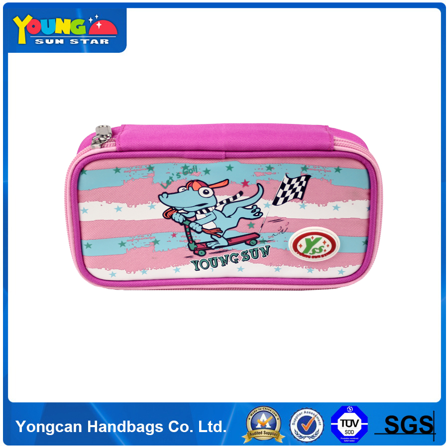 Customised China Made Pencil Pouch/Square Zipper Pencil Bag/Pencil Case For Kids