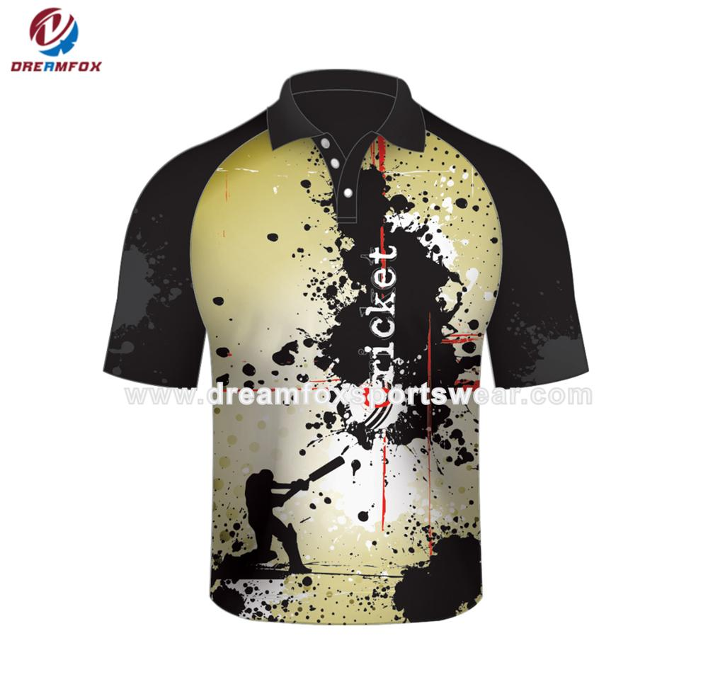 Custom Think Different Sublimated New Design Polo T Shirt Cricket