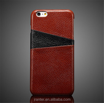 For iphone 6s plus cover , fashional genuine leather back case cover for iphone 6 plus