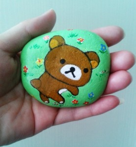 2018 new product pretty hand painted stones for home decoration or children gift