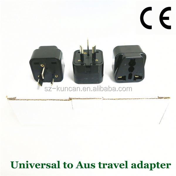 Kuncan Universal UK USA EU AU to 2 & 3 Pin AU AUS Plug Adaptor Mains Adapter