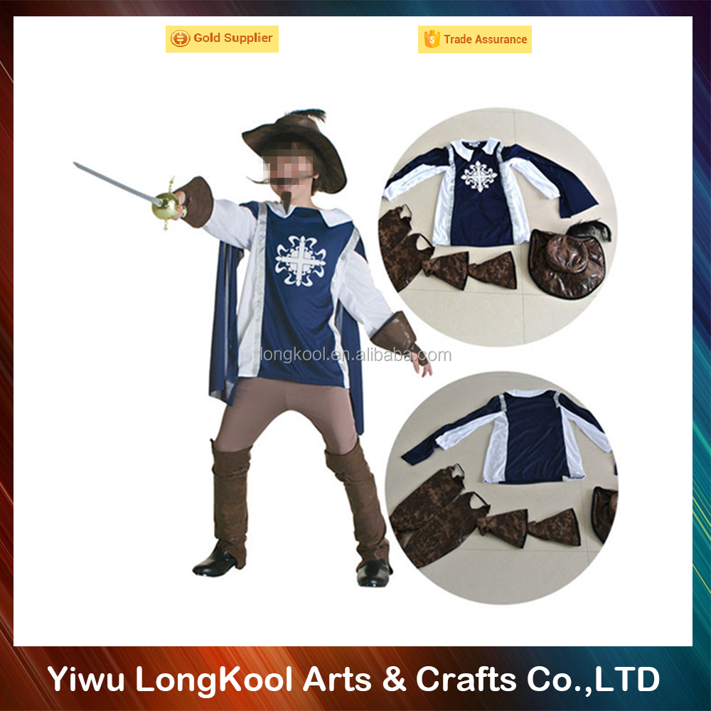 Masquerade cosplay costume The Three Musketeers: One for All! adult costume for halloween