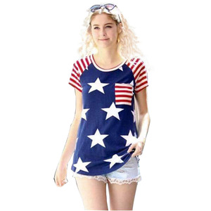 Plus Size For Mom And Me T-shirts Wholesale Adult And Child 4th Of July American National Day T-shirts
