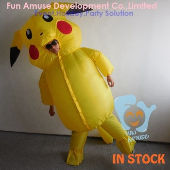 halloween cute adult inflatable pikachu mascot costume
