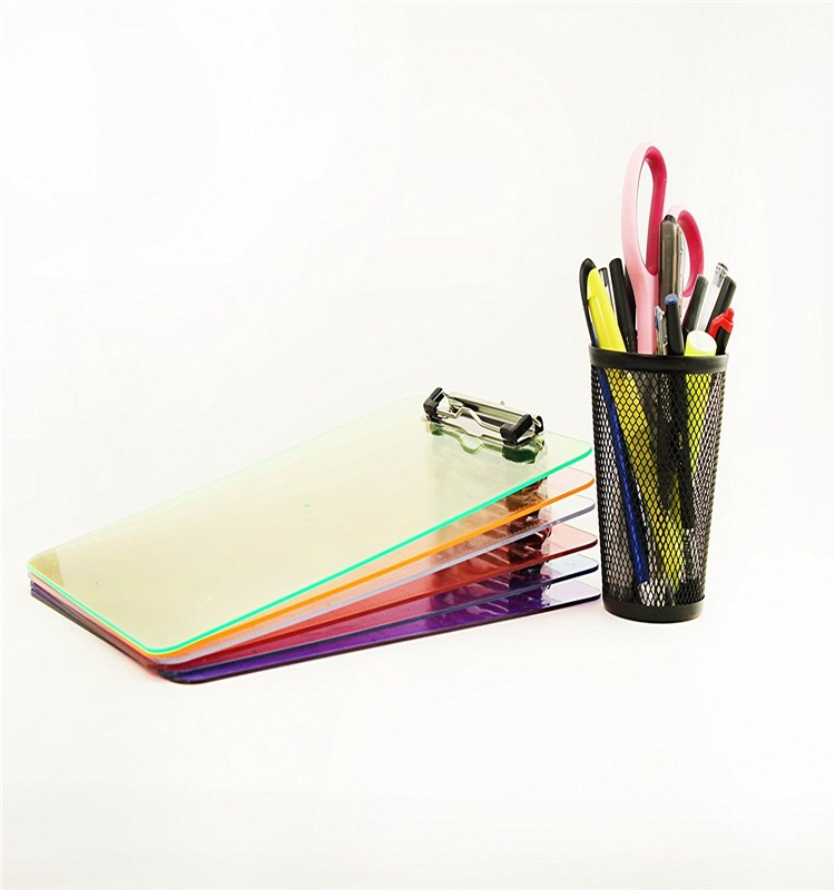 wholesale colorful acrylic clipboards plexiglass clipboard
