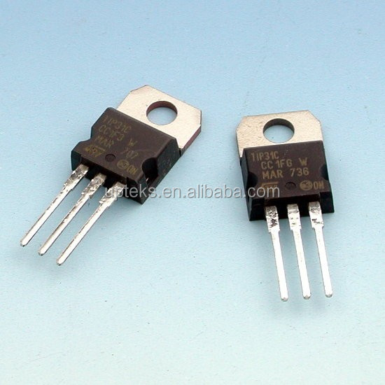 Tip31c Stmicroelectronics To-220 Dip Silicon Npn Power Transistor ...