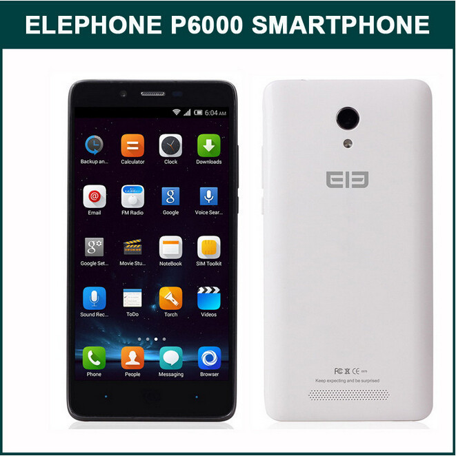 New Product 6000p Quad Core Android Phone 5.0 Inch Android 4.4 4G Smartphone Elephone P6000