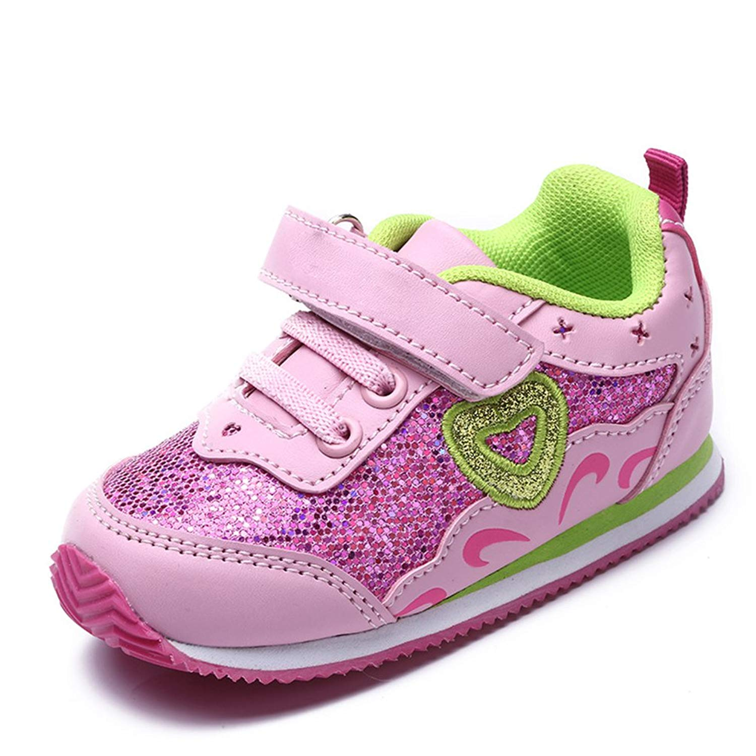 bc4362ab7e37ab Get Quotations · Girls Kids Shoes Purple   Pink Bright Shining Faction Soft  Sole Baby Toddler Shoes Casual Breathable