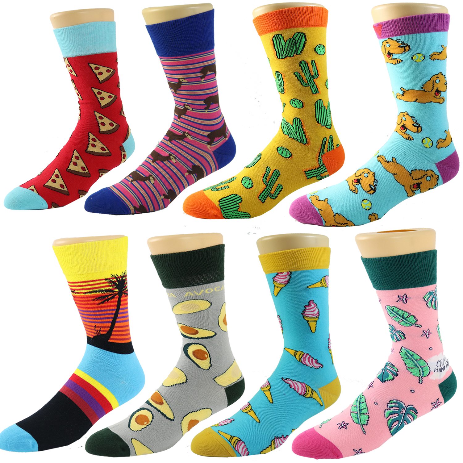 wholesale custom quality bamboo cotton men colorful happy socks