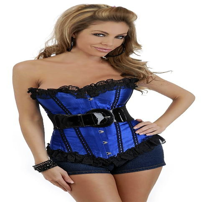 73a47f0a59 Buy Plus Size XXL Corset And Bustier Red Blue Black White Rose Red Button  Waist Shaper Women Slimming Latex Corset in Cheap Price on m.alibaba.com
