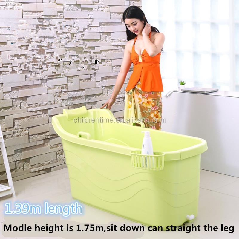g nstige kunststoff tragbare runde freistehende badewanne f r erwachsene fass produkt id. Black Bedroom Furniture Sets. Home Design Ideas