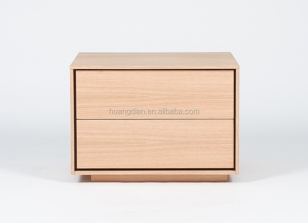 Contemporary hotel furniture design modern night stand fashion bedside table with 2 drawers