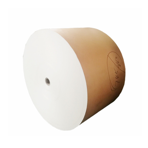 280+18GSM Single Sided PE Coated Paper In Roll High Quality Paper Cup Raw Material Bamboo Paper Roll