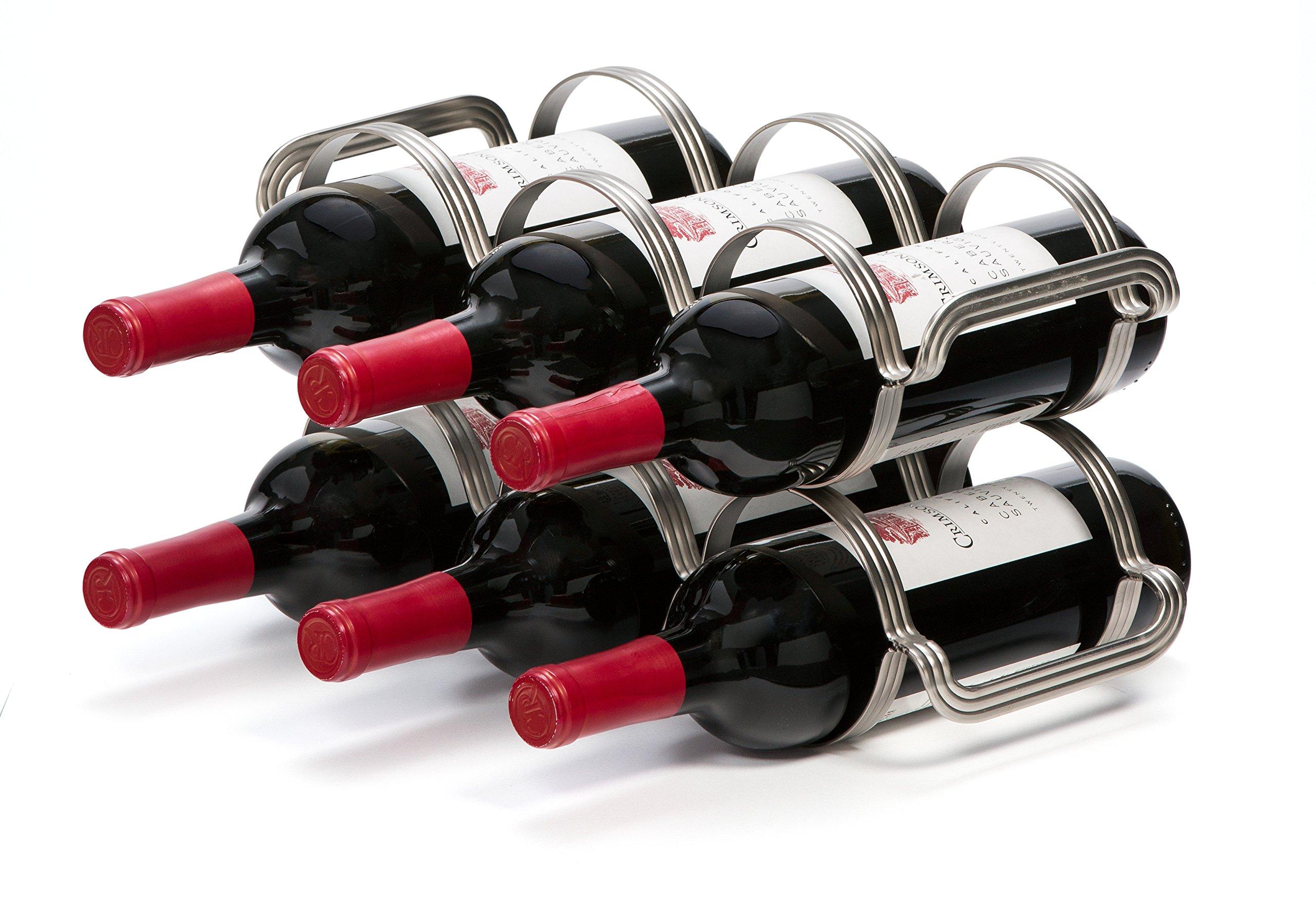 Mango Steam 6 Bottle Wine Rack (6 Bottle Wine Rack, Silver)