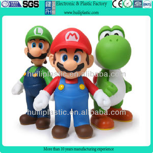 Super Mario plastic cartoon figure/pvc cartoon figure/plastic game cartoon figure toy