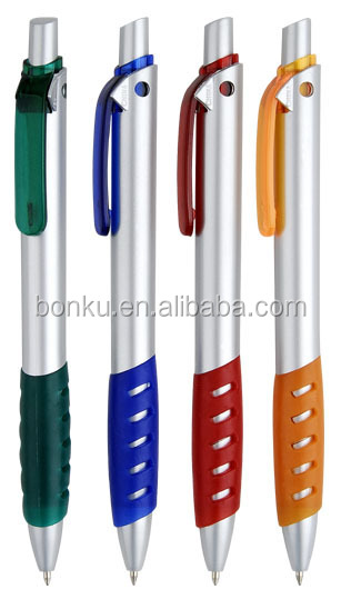 colored grip promotional slogan personalized brand ball pen