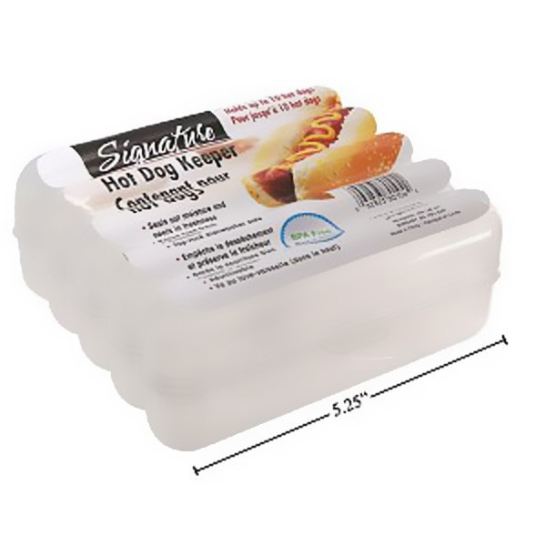 Hot Dog Keeper, Hot Dog Stay Fresh Plastic Container