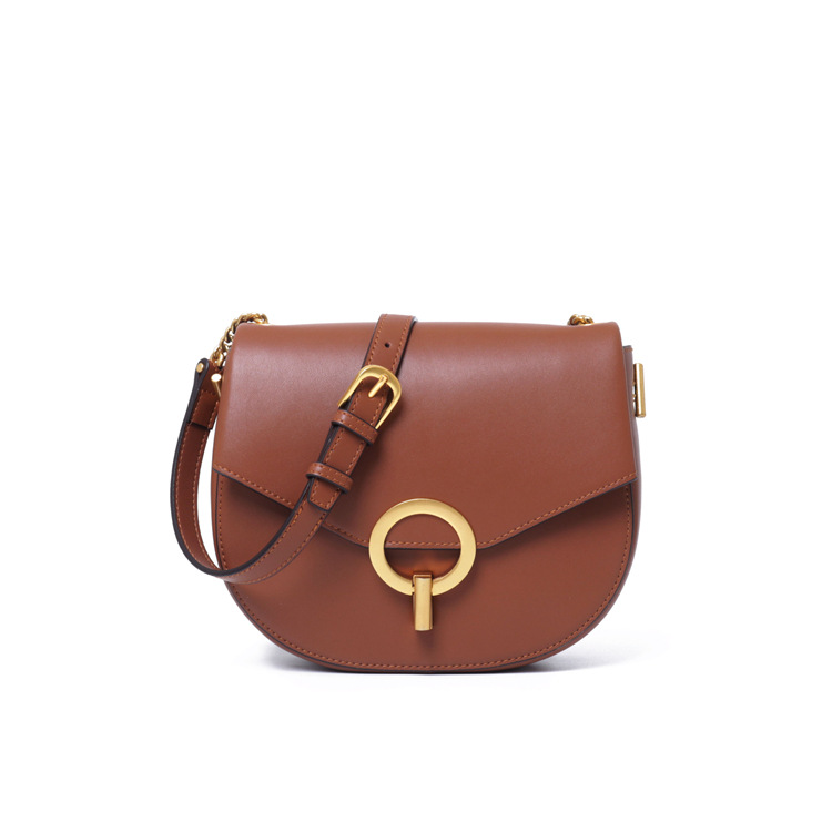 RY-EV0010 trending 2019 OEM luxury women genuine leather bags custom-made saddle handbags for young ladies