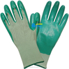 13 Guage Green Nylon With Green Nitrile Coated Wholesale Work Gloves