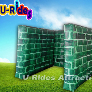 Small U-shape Broken Wall Inflatable Paintball Bunker Field For War Zone military Paintball Field Obstacle