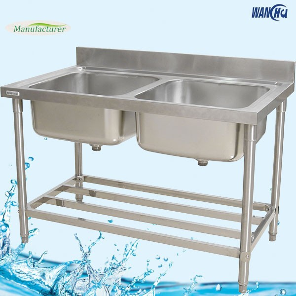 Merveilleux Italian Restaurant Kitchen Sink Furniture/Double Bowl Stainless Steel  Kitchen Sink Stand Guangzhou Factory