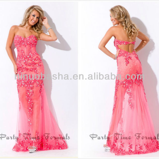 Buy Cheap China coral pink prom dresses Products, Find China coral ...