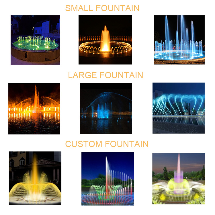 Outdoor Pool Decorative Fountain Laminar Jets Swimming Pool