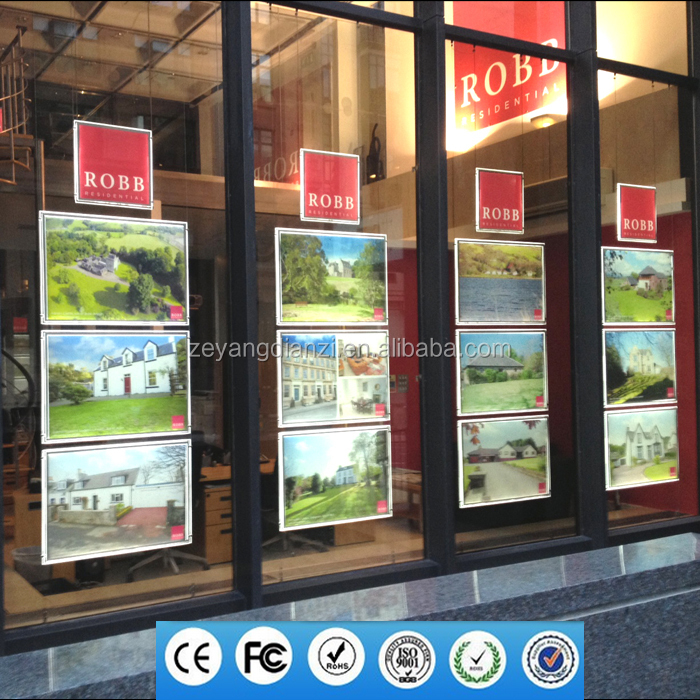 2017 Christmas Real Estate a3 a4 Advertising Led Sign Window Display