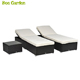 Swimming Poolside general use Rattan chaise lounge chair with Side Table