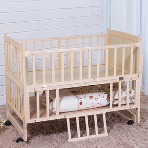Popular Pine Wood Baby Cribs With Storage Drawers