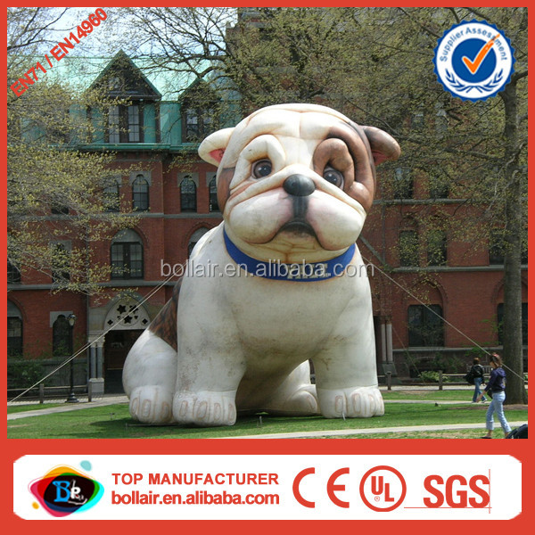 Customized design outdoor YALE giant inflatable bulldog