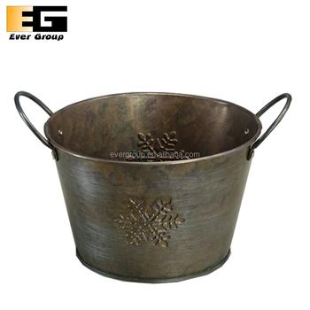 Metal Planter Box Antique Style Flower Pot