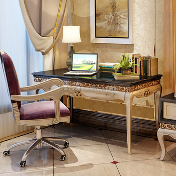 italy neocalssic study room computer office desk with chair luxury
