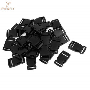 Black Plastic Side Release Buckle for Belt