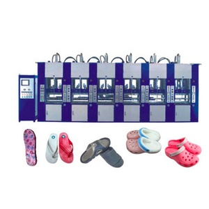 Full automatic High output 6 work station EVA slipper shoe machine factory Sell at a bargain price