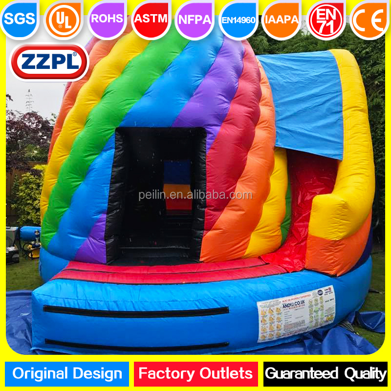 ZZPL commercial inflatable Disco Dome for adults, LED Inflatable Castle with slide for rental