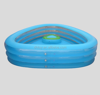 Three Ring Inflatable Pool Inflatable Transparent Heart Shaped Childrenu0027s  Pool
