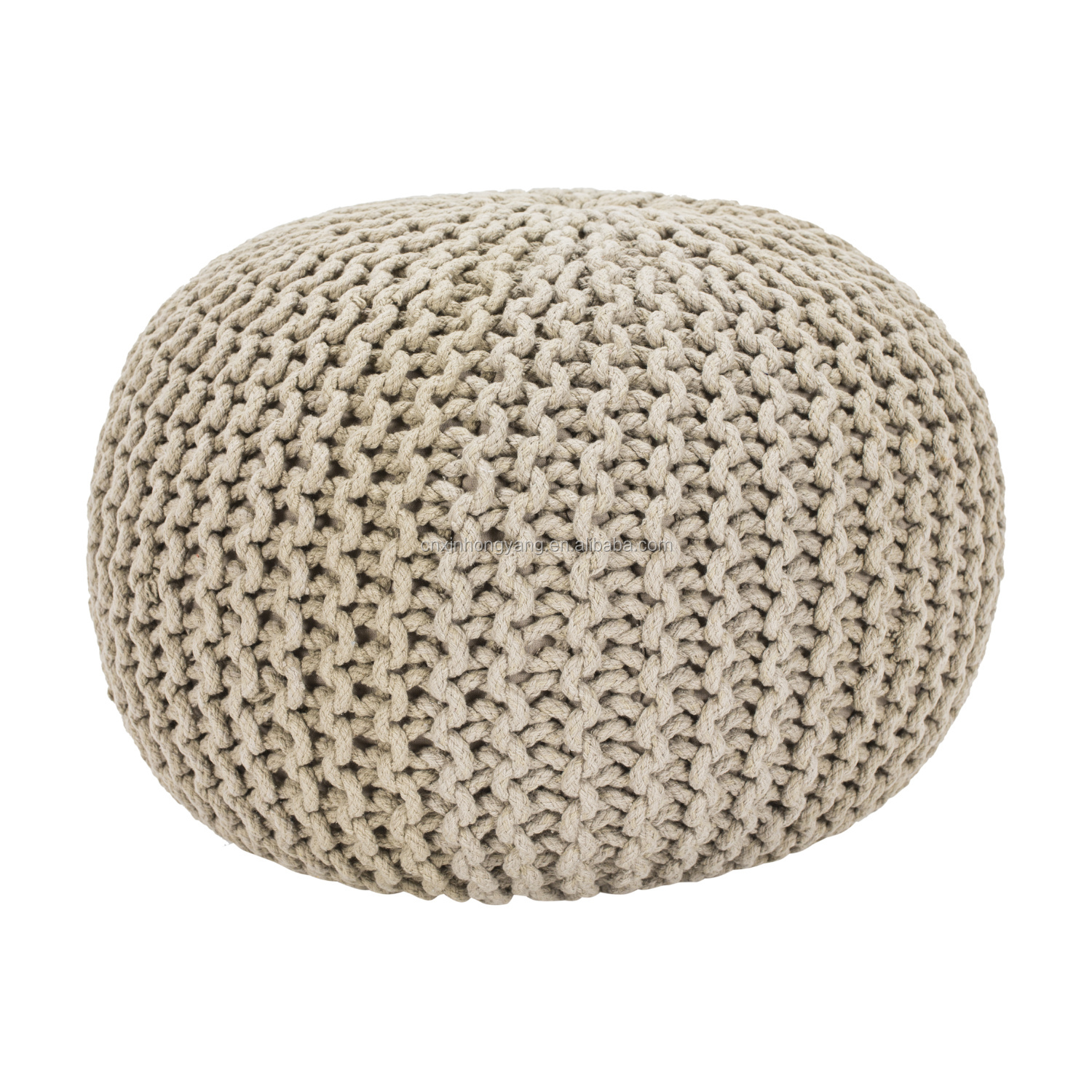 Knitted Pouffe Foot Stool Cushion Weave