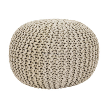 Stupendous Source Factory Wholesale Knitted Pouffe Foot Stool Cushion Weave Straw Pouf Crochet Floor Cushions Bean Bag Knit Ottoman Buy Woven Pouf Beatyapartments Chair Design Images Beatyapartmentscom