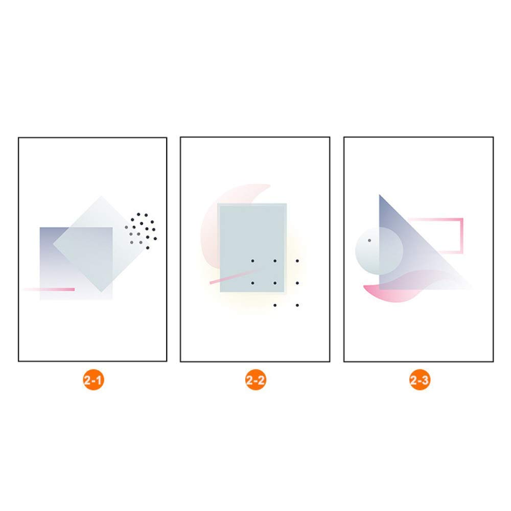 PLLP Modern European geometric abstract living room decorative painting, office hotel porch painting, inkjet framed triple painting