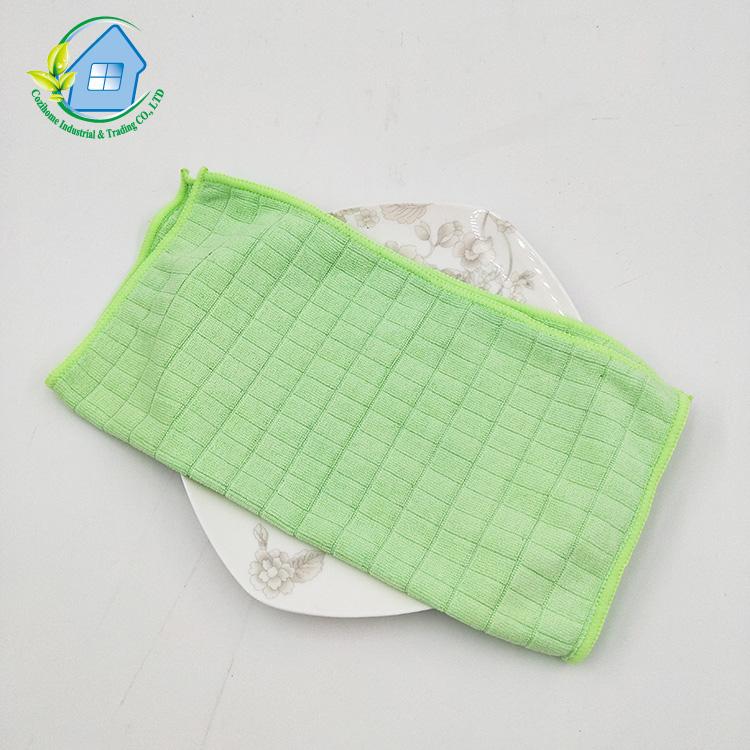 30x40 ซม.30g ยืดหยุ่น weft ถักขนาดเล็กตรวจสอบทำความสะอาดผ้าไมโครไฟเบอร์ผ้าเทอร์รี่ผ้าขนหนู