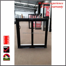 cheap house powder coated aluminium window grill design top hung window with chinese top brand