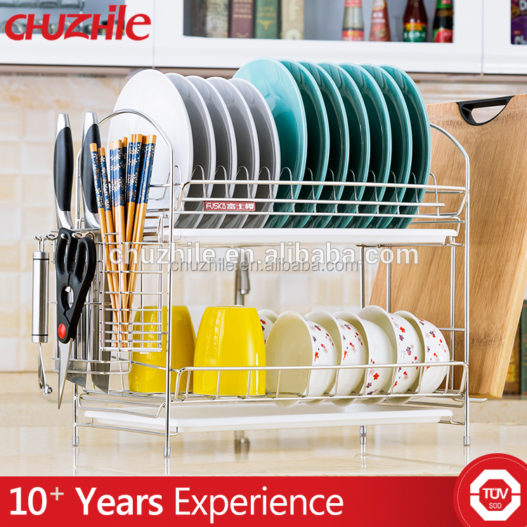 New Design custom kitchen rack stainless steel dish drainer rack