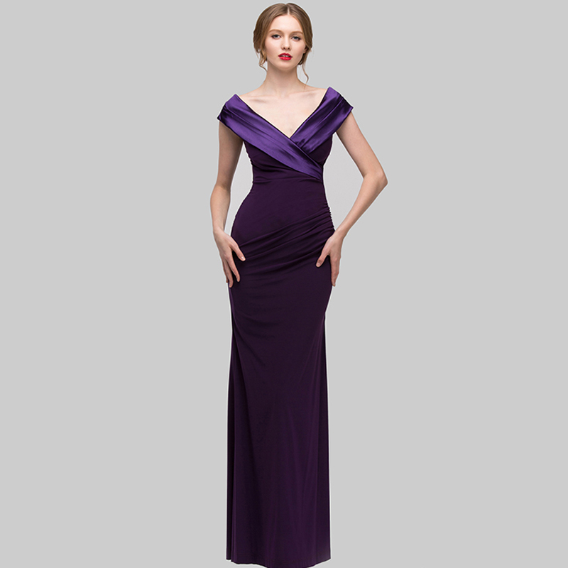 2017 Shenbo Clothing Deep V neck Customized Design Women Evening Dresses Gown