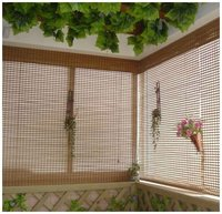 Natural bamboo rolling up shades/blinds/curtains in slat style