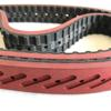 Red Rubber Coating Timing Belts For Vacuum Film Packaging Machine