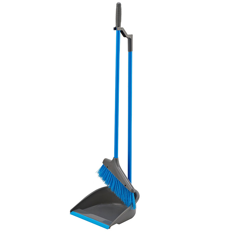 Home Cleaning Long Handle Plastic Brooms And Dust Pan