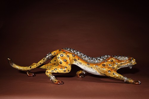 BLN- 1428 bronze indoor decoration leopard statue animal copper statues