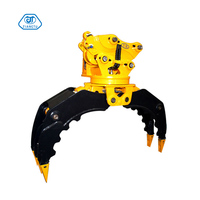 360 Degree Rotating Rock Grab Stone Log Grapple For Excavator